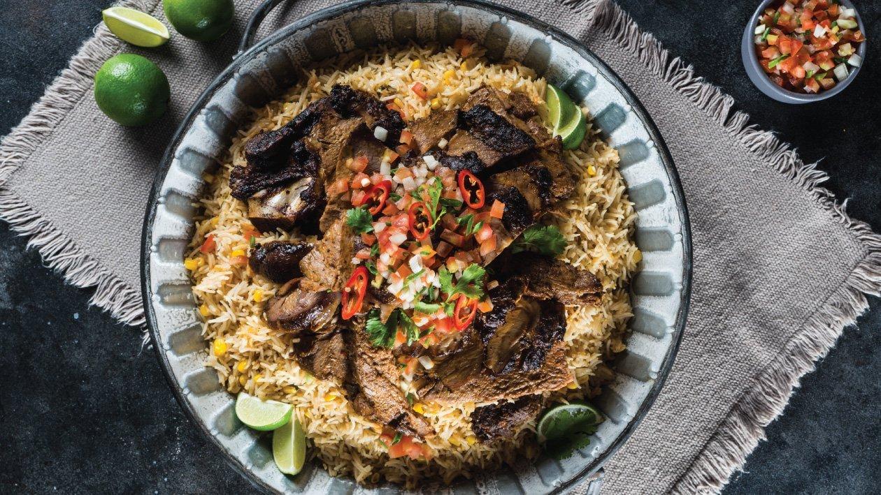 لحم الغنم المكسيكي والأرز الأسباني – وصفة