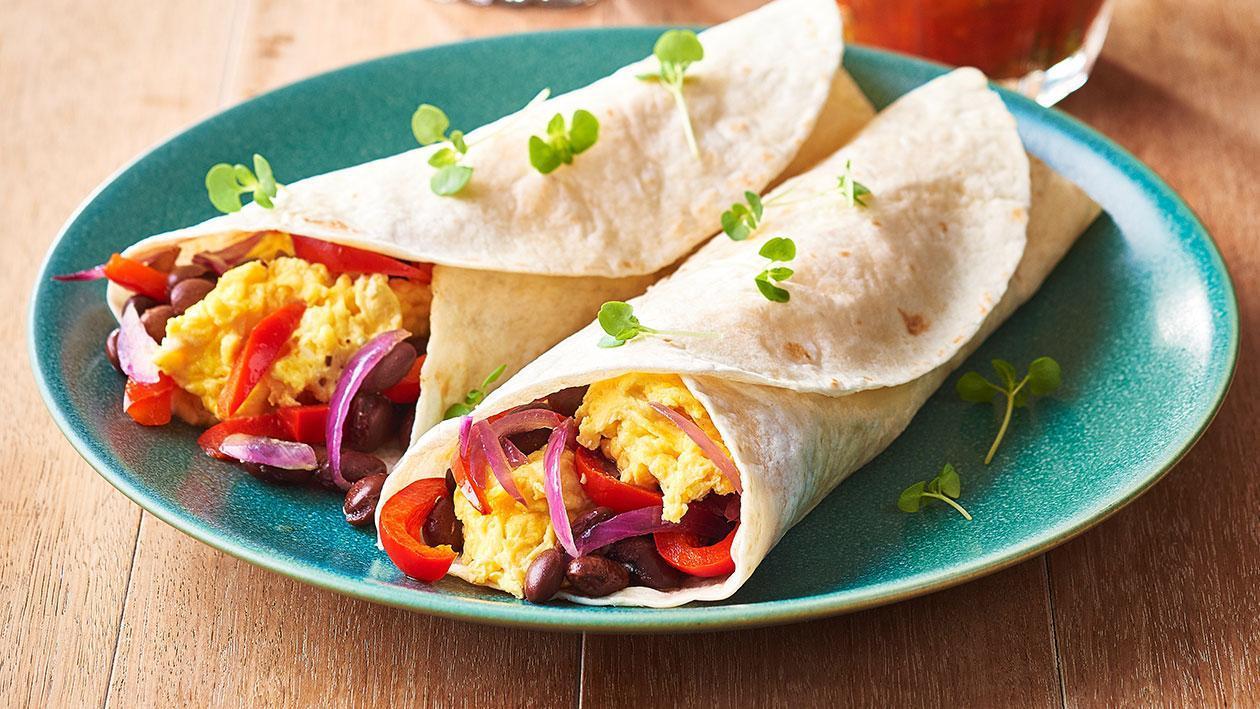 لفائف البوريتو للفطور – وصفة