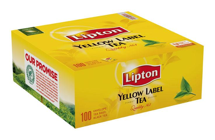 Lipton Черен чай Yellow label 100 -