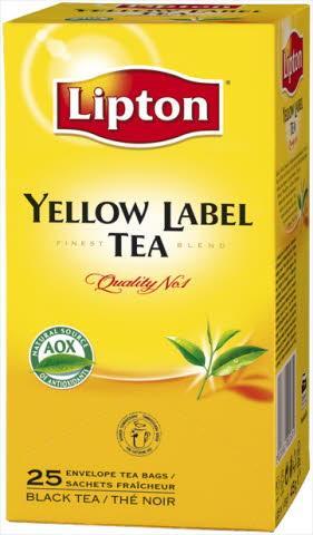 Lipton Черен чай Yellow label -
