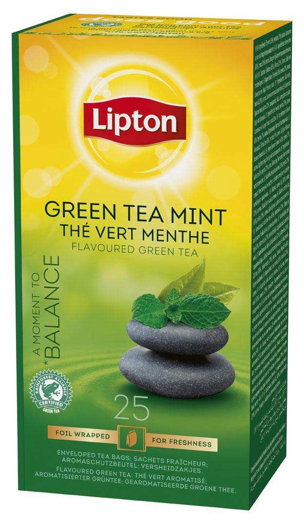 Lipton Зелен чай мента -