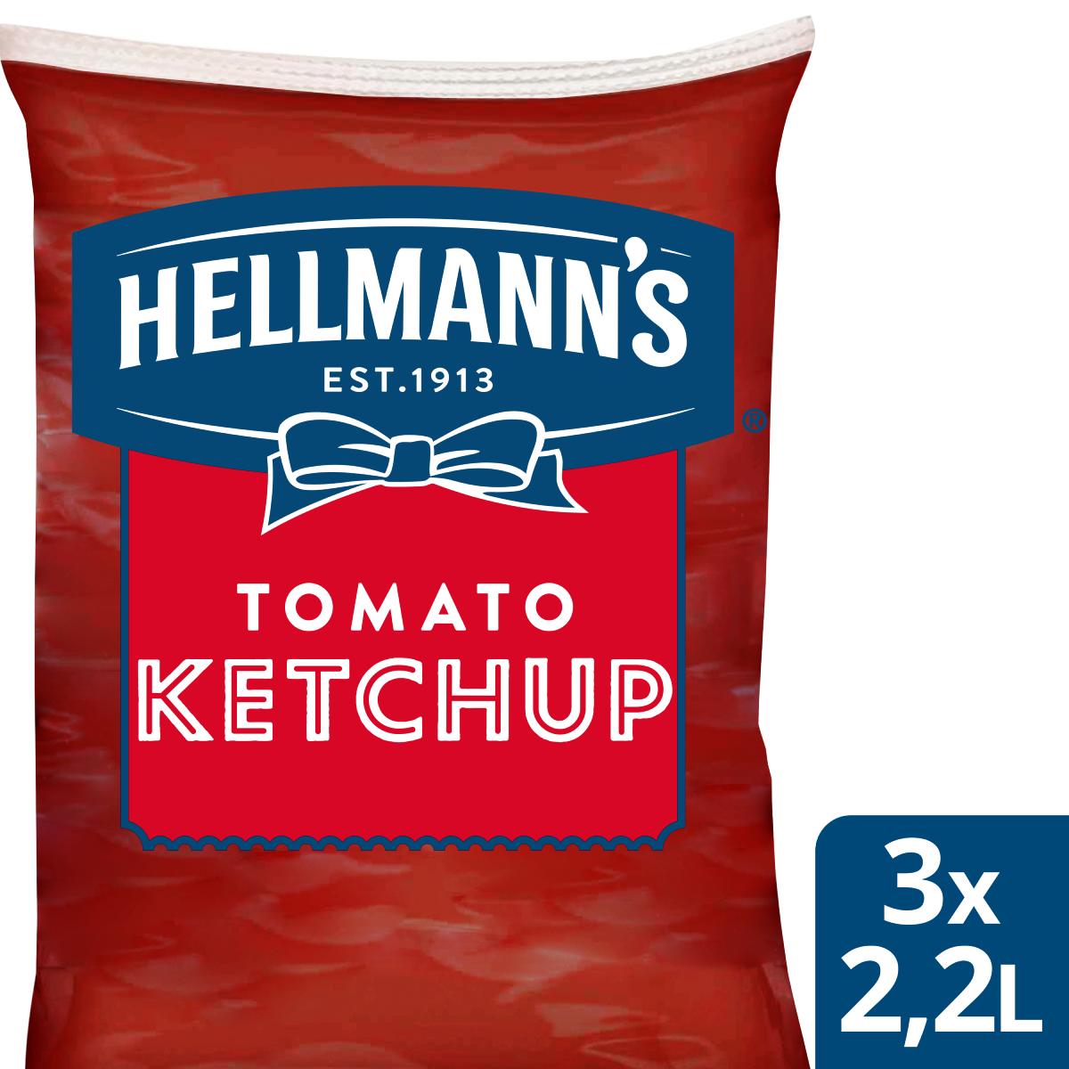 Hellmann's Кетчуп пауч 2.2 l - Hellmann's дресинг паучове за лесно и ефикасно дозиране