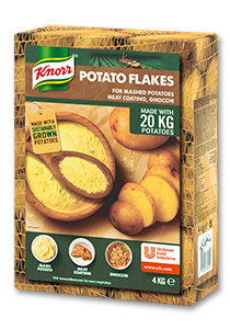 Knorr Картофи на люспи - Висококачествени картофи - просто събрани, сварени, изсушени и направени на люспи