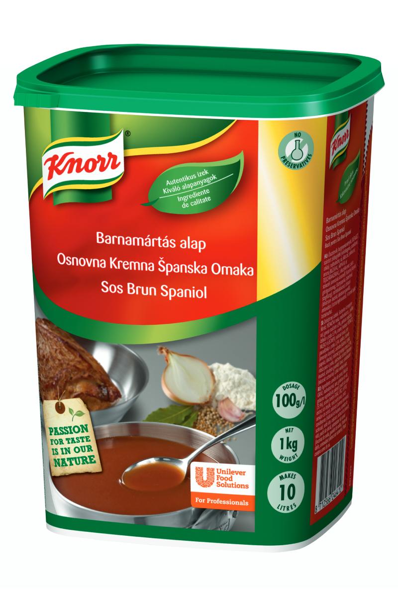 Knorr Тъмен кафяв сос 1 kg - Knorr Тъмен кафяв сос е с автентичен вкус, цвят и консистенция.