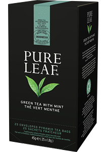 PURE LEAF Зелен чай с мента 25 бр - Специалният чай започва със специалните чаени листа и завършва с перфектното поднасяне