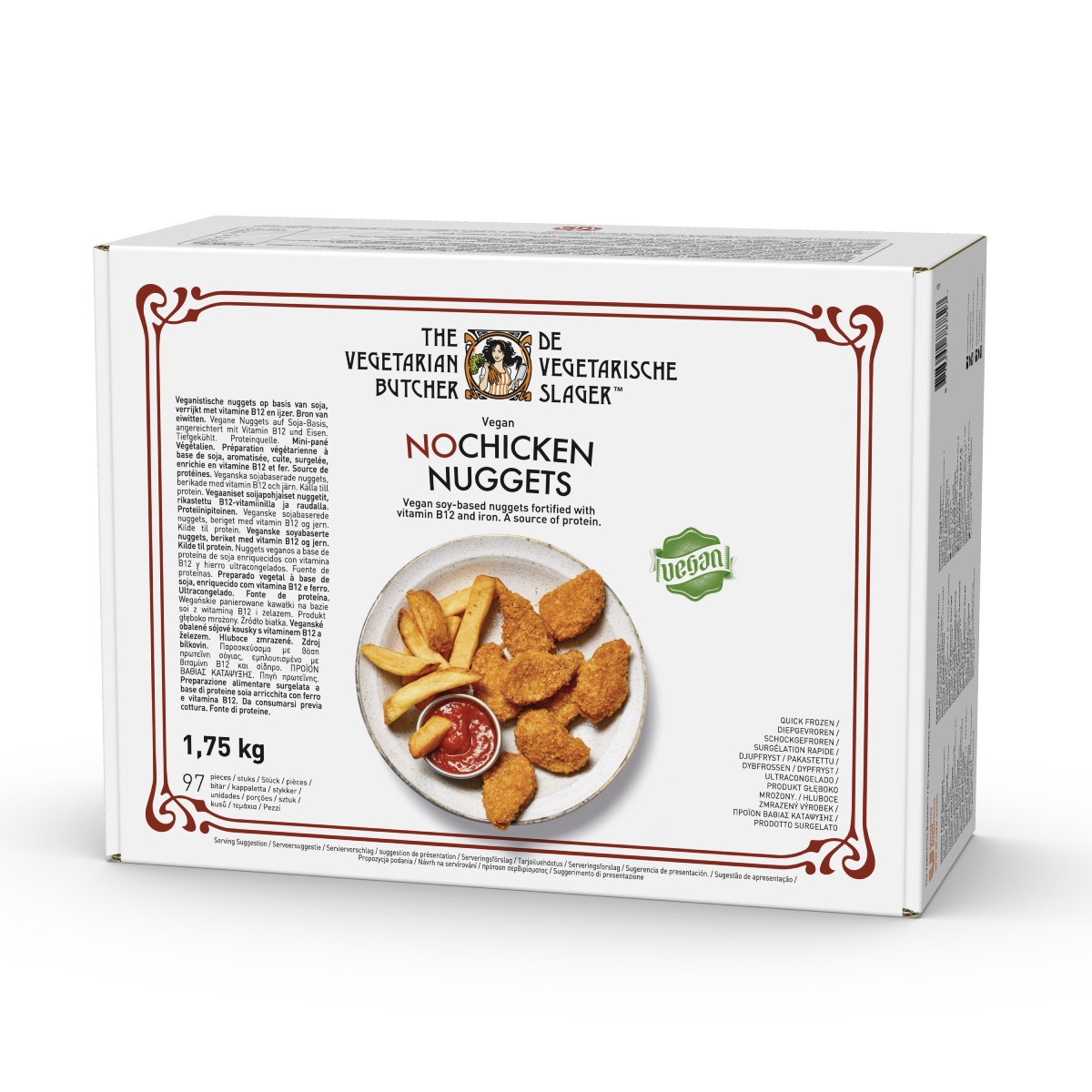 """The Vegetarian Butcher No Chicken Nuggets 1.75 kg - """"С протеин на растителна основа, с вкус и текстура на истинско месо"""""""