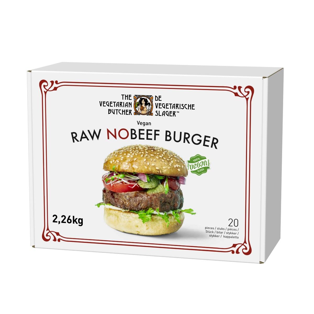 """The Vegetarian Butcher Raw No Beef Burger 2.26 kg - """"The Vegeterian Butcher позволява да превърнете най-предпочитаните си ястия във вегетариански или веган, без да променяте менюто си."""""""