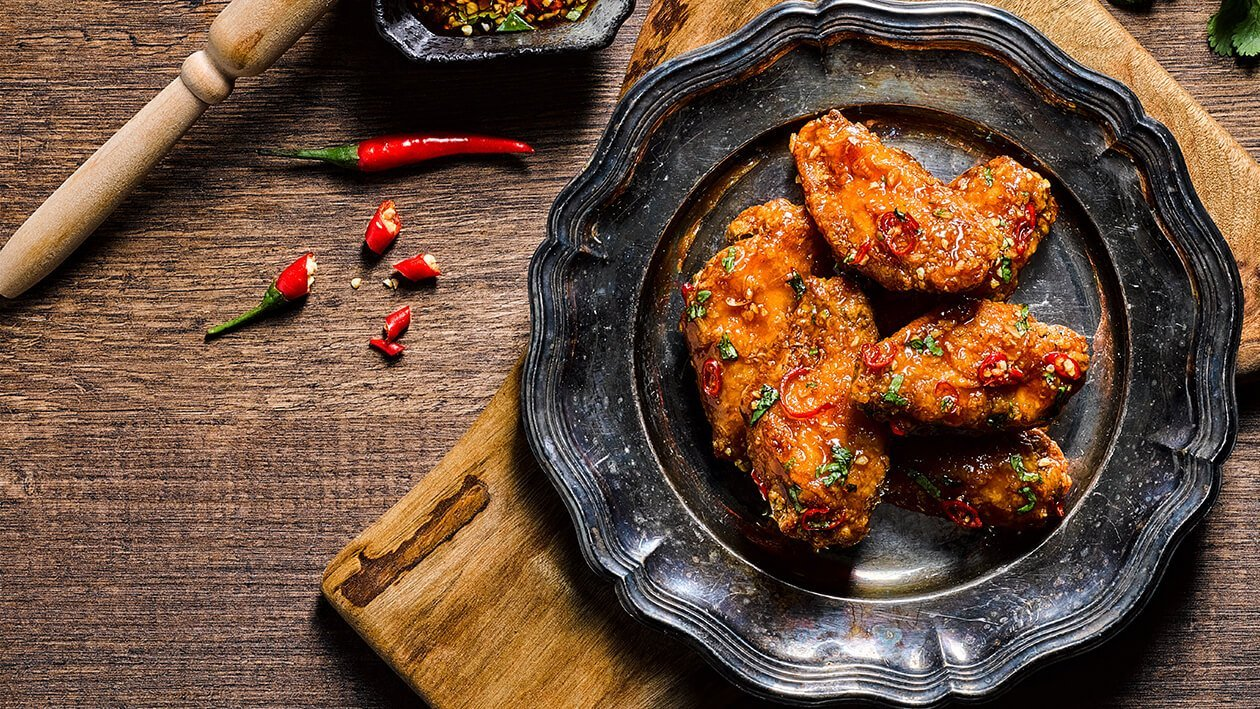 Хрупкаво пикантно пиле