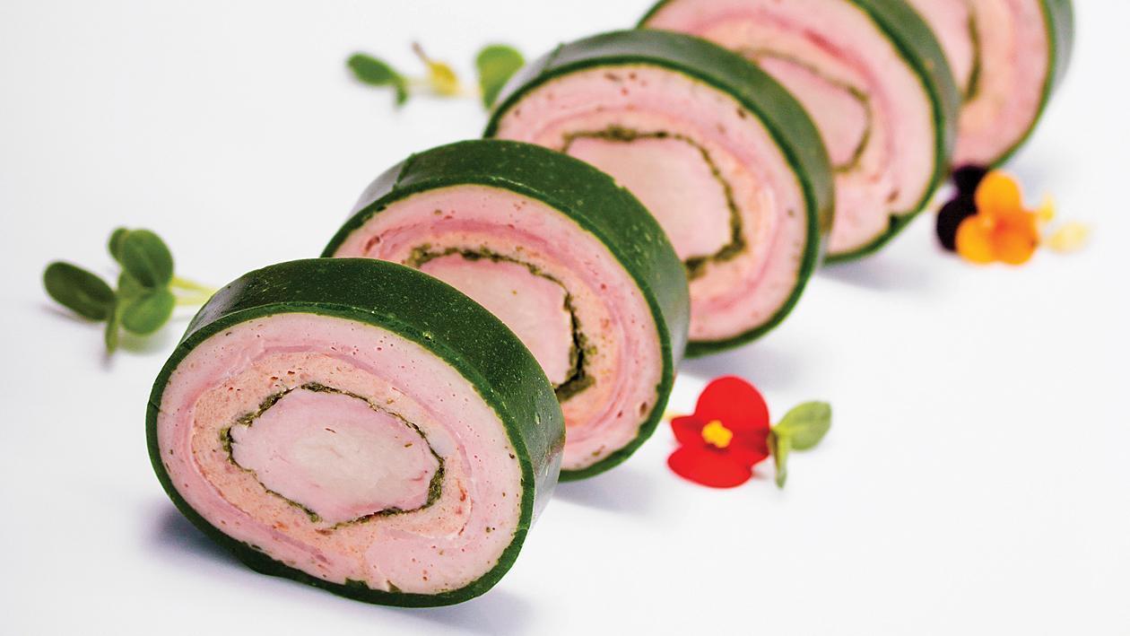 Рулада от свинско месо с провансалски билки с обвивка от желиран магданоз