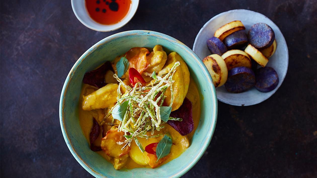 Южно Тайландско пилешко с къри