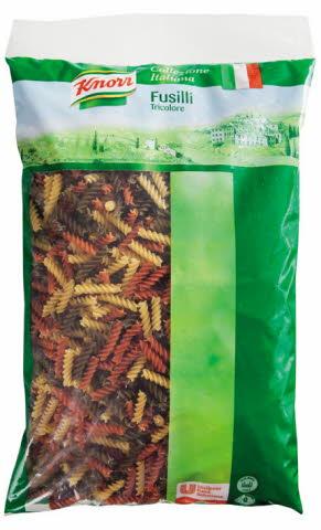 Knorr Fussilli Tricolore - tříbarevná vřetena 3 kg