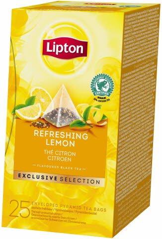 Lipton Černý čaj s příchutí citrónu 25 sáčků