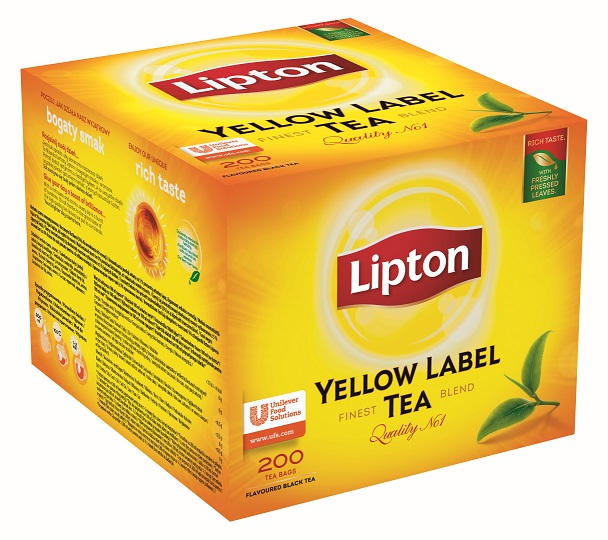 Lipton Yellow  Label 200 porcí