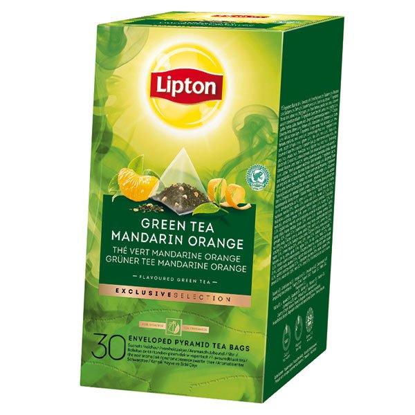 Lipton Zelený čaj s příchutí mandarinky a pomeranče 30 sáčků