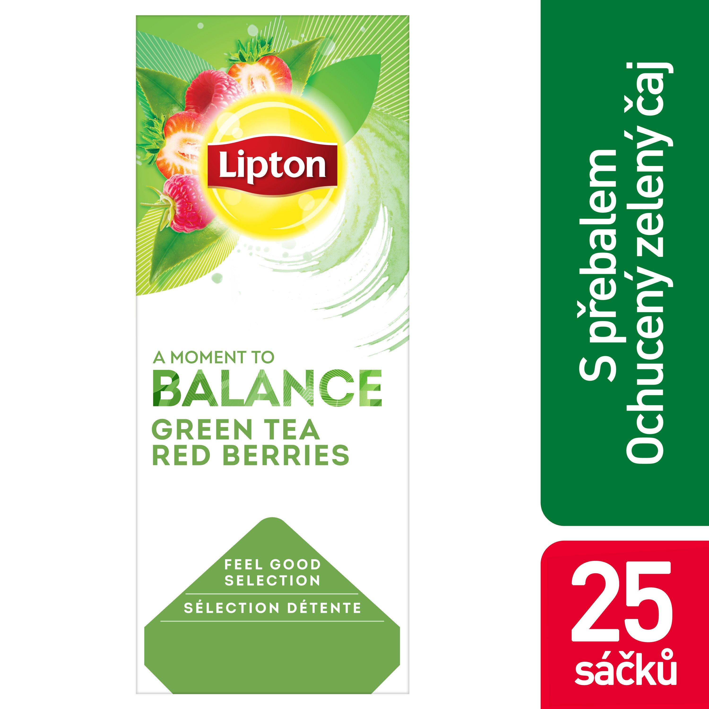 Lipton Zelený s kousky malin a jahod 1,4 g -
