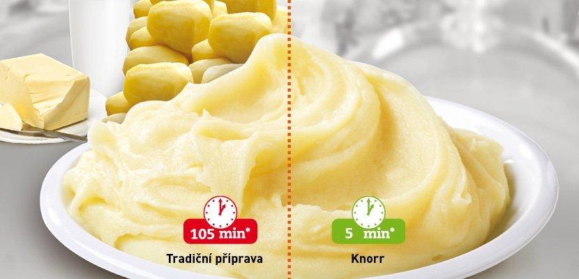 Knorr Bramborová kaše s mlékem 4 kg - Maximálně blízko bramborové kaši připravované od základu za pár minut.