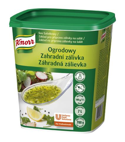 Knorr Zahradní zálivka 700g - Naše zálivky mají skvělou chuť a vydrží dlouho jako právě připravené.