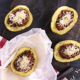 Plněné brambory a la bolognese