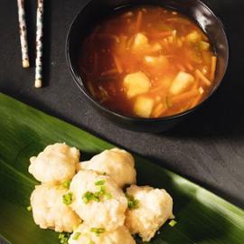 Sladkokyselé kuře s ananasem a bambusem