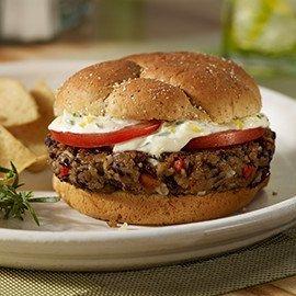 Vegetariánský burger z červenýh fazolí