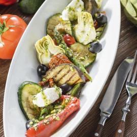 Zeleninové antipasti s ricottou