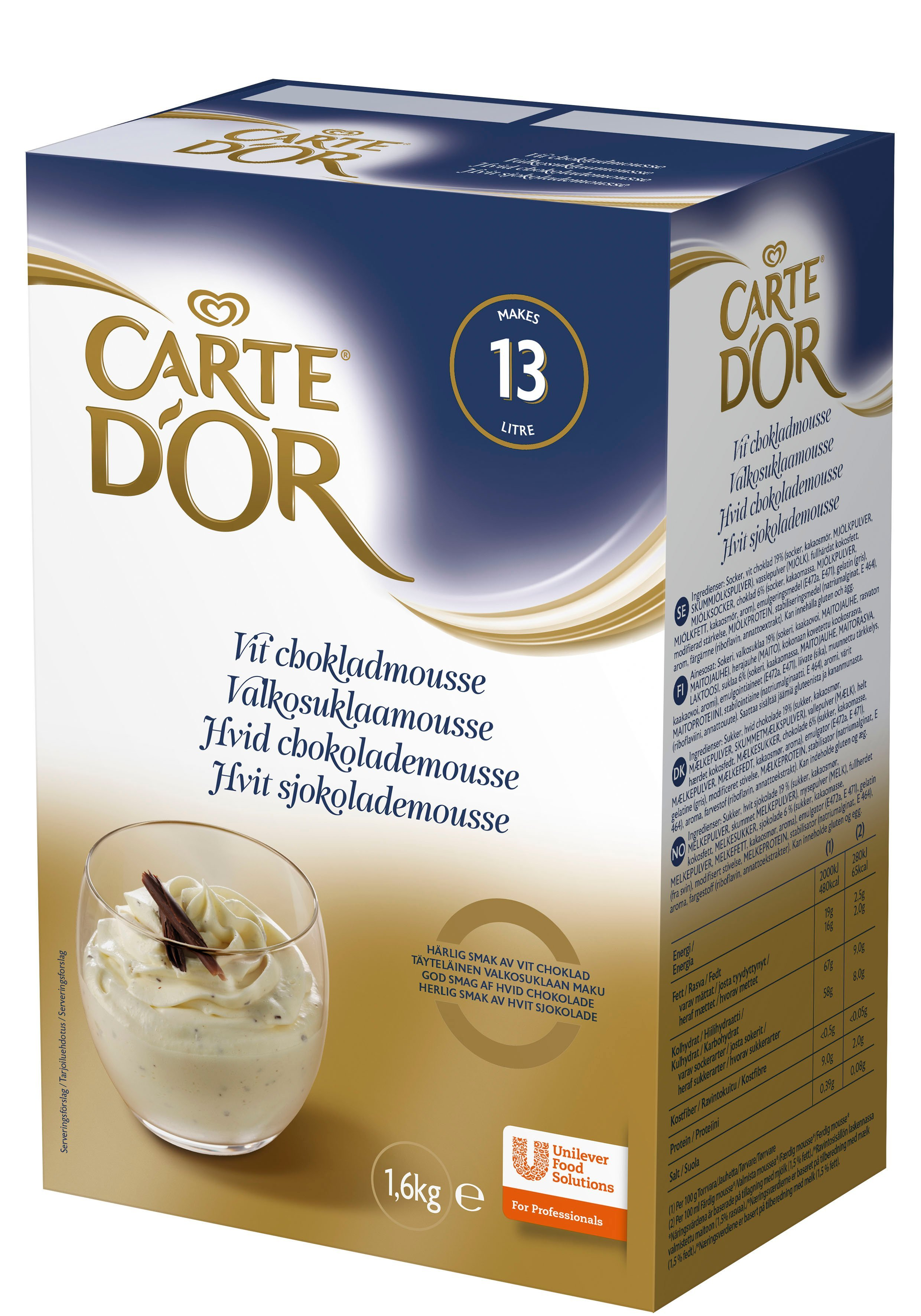 Carte d'Or Hvid chokolademousse