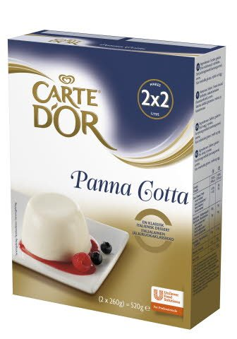 Carte d'Or Panna Cotta (48 portioner) 2 x 0,26 kg / 2 x 2 L