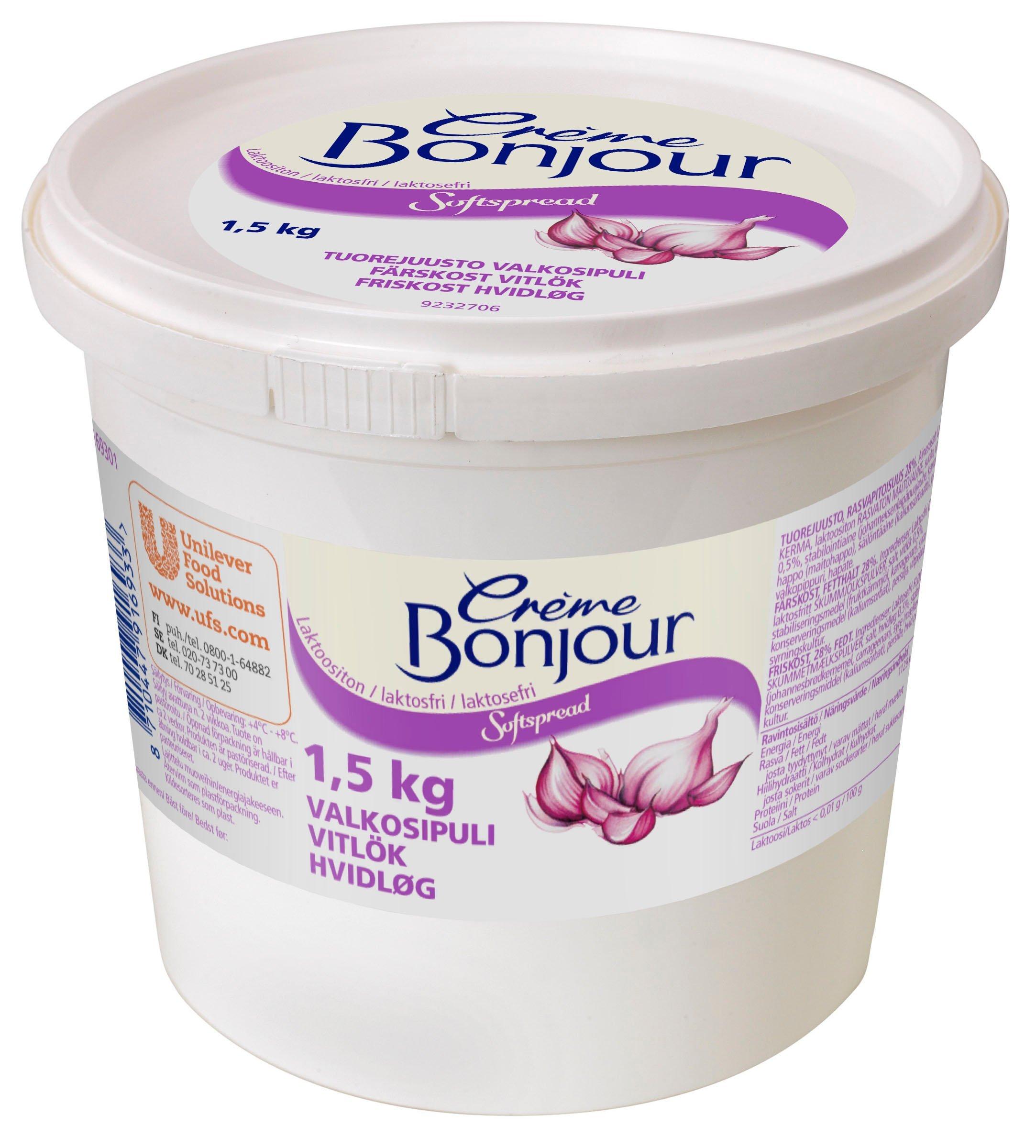 Creme Bonjour Hvidløg 1,5kg