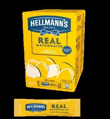 Hellmann's Mayonnaise Portion pack, 198x10ml -