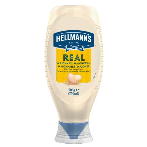 Hellmann's Real Mayonnaise - Squeeze 750 ml