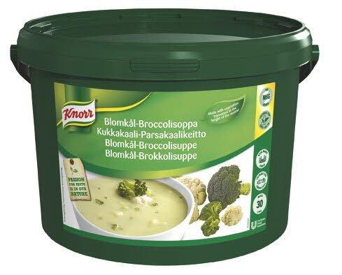 Knorr Blomkål- og broccolisuppe 1 x 3 KG / 30 L
