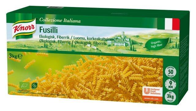 Knorr Fusilli, Økologisk pasta med økologiske havrefibre 3 kg