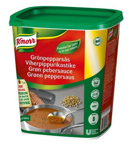 Knorr Grøn pebersauce, pasta 1 kg / 8 L