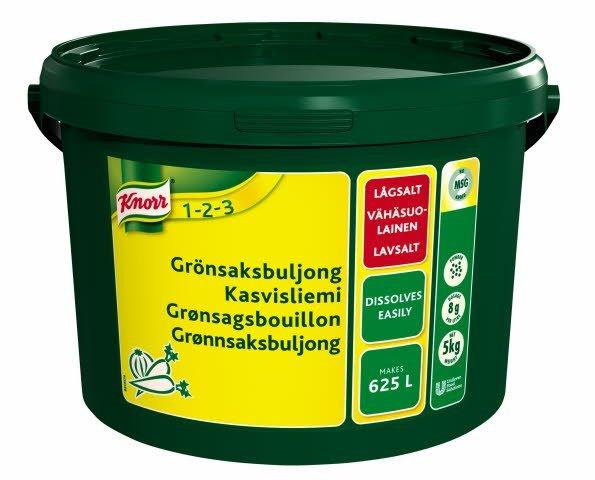 Knorr Grønsagsbouillon, lavsalt 5 kg / 625 l