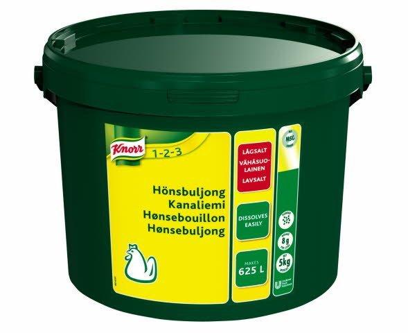 Knorr Hønsebouillon, lavsalt 5 kg / 625 l