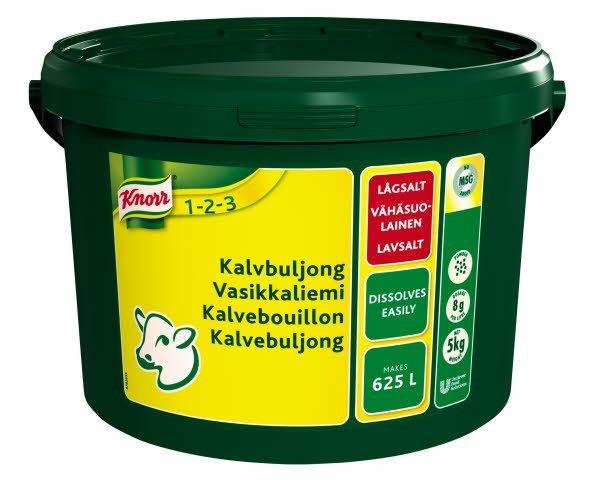 Knorr Kalvebouillon, lavsalt 5 kg / 625 l