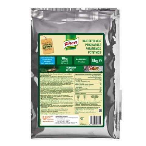 Knorr Kartoffelmos, kold tilberedning 4 x 3 kg -