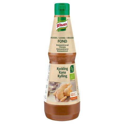 Knorr Økologisk Kyllingefond, koncentreret, 1 l -