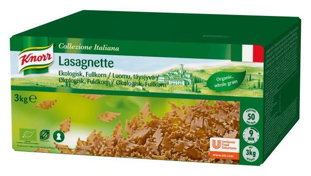 Knorr Lasagnette - Økologisk fuldkornspasta 3 kg