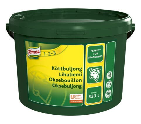 Knorr Oksebouillon, granulat, økonomi 5 kg / 333 L -