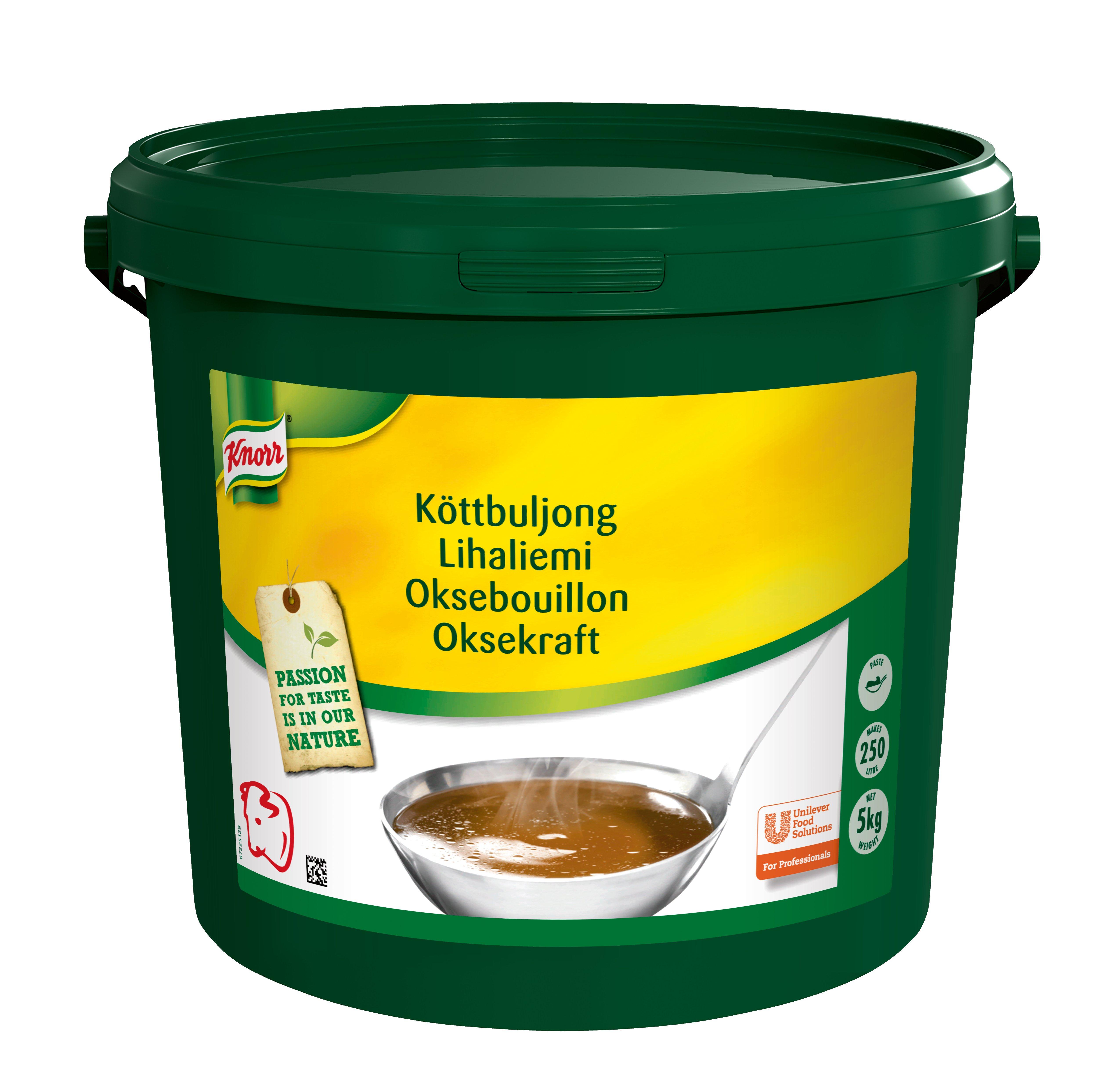 Knorr Oksebouillon, pasta, økonomi 5 kg / 250 L