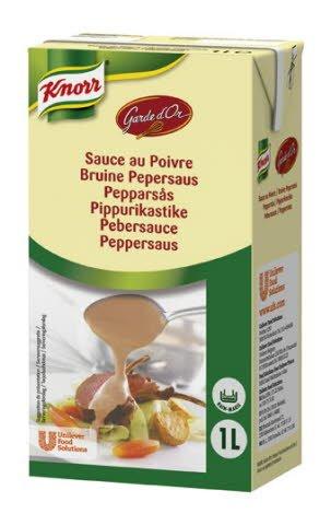 Knorr Pebersauce, serveringsklar, 6 x 1 liter