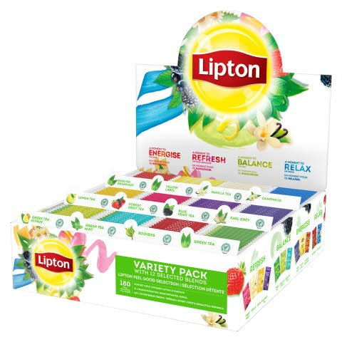 Lipton Assorteret Displaykasse, 12 x 15 breve