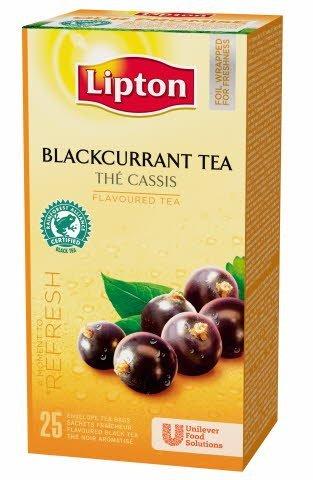 Lipton Blackcurrant Tea, Catering te, 6 x 25 breve