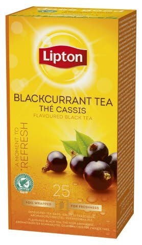 Lipton Blackcurrant Tea, Catering te, 6 x 25 breve -