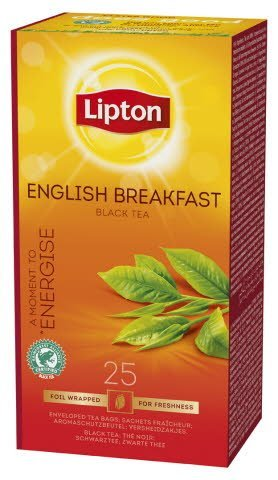 Lipton English Breakfast, Classic te, 6 x 25 breve