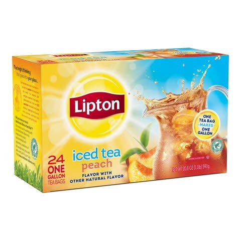 Lipton Fresh Brewed Peach Iced Tea -