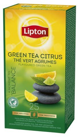 Lipton Green Tea Citrus, Catering te, 6 x 25 breve
