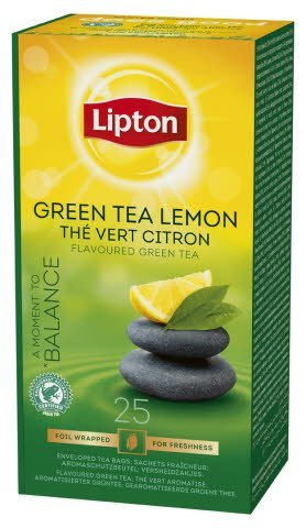 Lipton Green Tea Lemon, Classic te, 6 x 25 breve