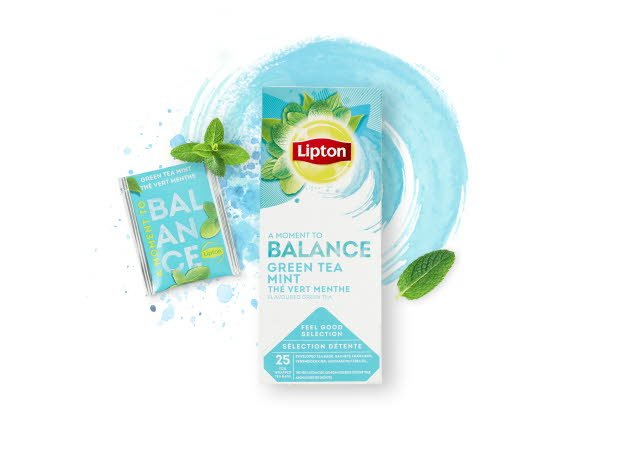 Lipton Green Tea Mint, 6 x 25 breve